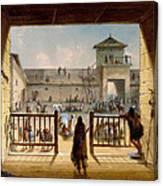 Interior Of Fort Laramie Canvas Print