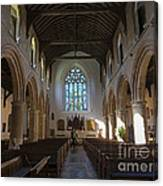Interior Of St Mary's Church In Rye Canvas Print