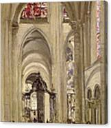 Interior Of The Cathedral Of St. Etienne, Sens Canvas Print