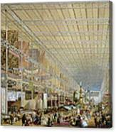Interior Of The Great Exhibition Of All Canvas Print