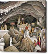 Interior Of The Grotto Of Nam Hou Canvas Print