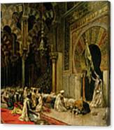 Interior Of The Mosque At Cordoba Canvas Print