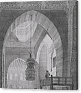 Interior Of The Mosque Of Kaid-bey Canvas Print