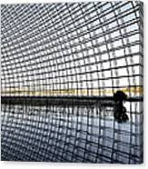 Interior Of The National Grand Theatre - Beijing China Canvas Print