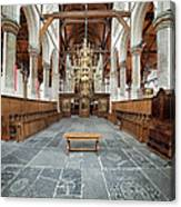 Interior Of The Oude Kerk In Amsterdam Canvas Print