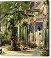 Interior Of The Palm House At Potsdam Canvas Print