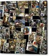 Interior Russian Submarine Horz Collage Canvas Print