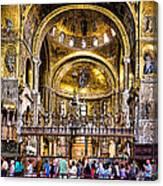 Interior St Marks Basilica Venice Canvas Print