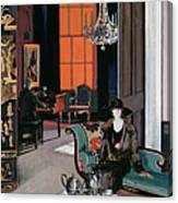 Interior - The Orange Blind, C.1928 Canvas Print