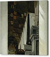 Interior View Of The New Church In Delft Canvas Print