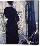 Interior Woman At The Window Canvas Print