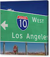 Interstate 10 Highway Signs Canvas Print