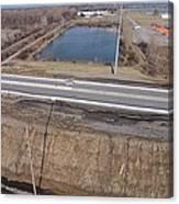 Interstate 75 Construction Ohio Aerial Canvas Print