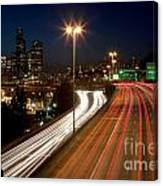 Interstate Traffic In Seattle Washington Canvas Print