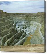 Inti Raymi Gold Mine Quarry In Oruro Canvas Print