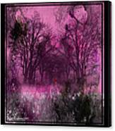 Into A Dark Pink Forest Canvas Print
