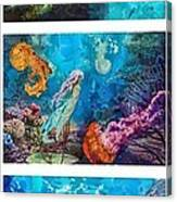 Into Deep Triptic Canvas Print