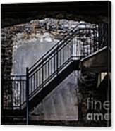 Into The Alley - Old Montreal Canvas Print