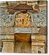 Intricate Carving At Wat Mahathat In 13th Century Sukhothai Hist Canvas Print