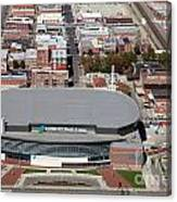 Intrust Bank Arena And Old Town Wichita Canvas Print