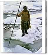 Inuit Seal Hunter Barrow Alaska July 1969 Canvas Print