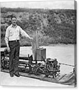 Inventor Of First Snowmobile Canvas Print
