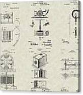 Inventors Patent Collection Canvas Print