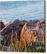 Inverness Beach Rocks  Canvas Print