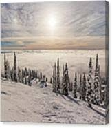 Inversion Sunset Canvas Print
