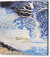 Inverted Lights At Trawscoed Aberystwyth Welsh Landscape Abstract Art Canvas Print