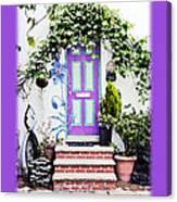 Invitation Greeting Card - Street Garden Canvas Print