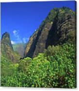 Io Needle And Valley Maui Hawaii Canvas Print