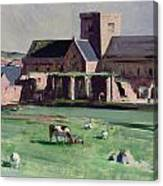 Iona Abbey From The Northwest Canvas Print