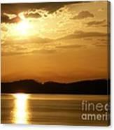 Iowa River Sunset V3 Canvas Print