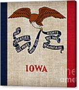 Iowa State Flag Canvas Print