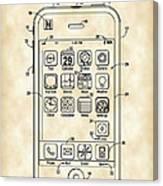 iPhone Patent - Vintage Canvas Print