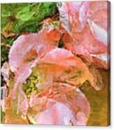 Iphone Pink Rose Digital Paint Canvas Print