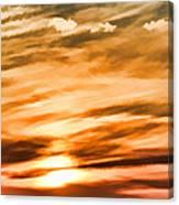 Iphone Sunset Digital Paint Canvas Print