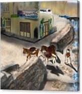 Iran Eatery In Kandovan Canvas Print