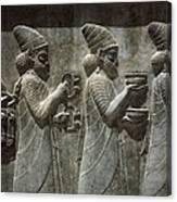 Iran. Persepolis. Apadana Or Audience Canvas Print