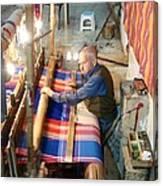 Iran Textile Weaver Canvas Print