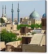 Iran Yazd From The Rooftops  Canvas Print