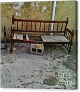 Iraqi Bench  Canvas Print