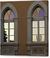 Iridescent Pastels At Sunset - Syracuse Arched Windows Canvas Print