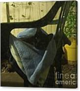 Irina Lounging On A Chair Canvas Print