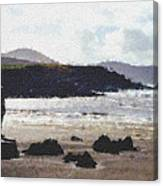 Irish Coast Pastel Chalk Canvas Print
