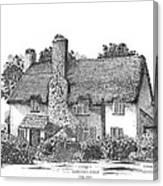Irish Cottage In Ireland Canvas Print