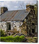 Irish Cottage Ruins Canvas Print