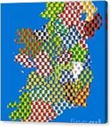 Irish County Gaa Flags Canvas Print