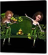 Irish dancers ii Canvas Print